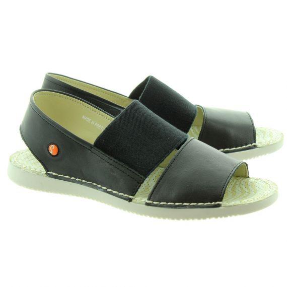SOFTINOS Ladies Tai 383 Sandals In Black