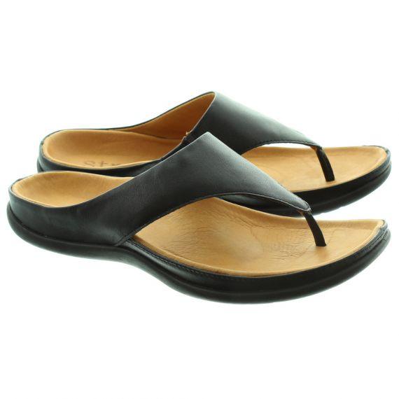 STRIVE Maui Toe Post Sandal in Black