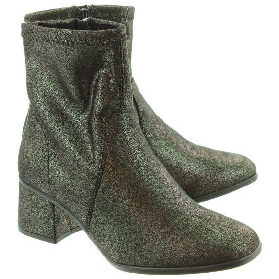 TAMARIS 25945 Ladies Heeled Ankle Boots In Pewter