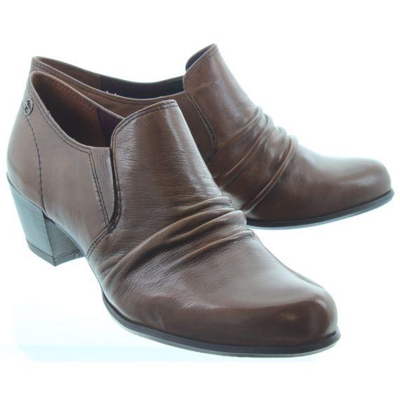 TAMARIS Ladies 24408 Heel Shoes In Cognac