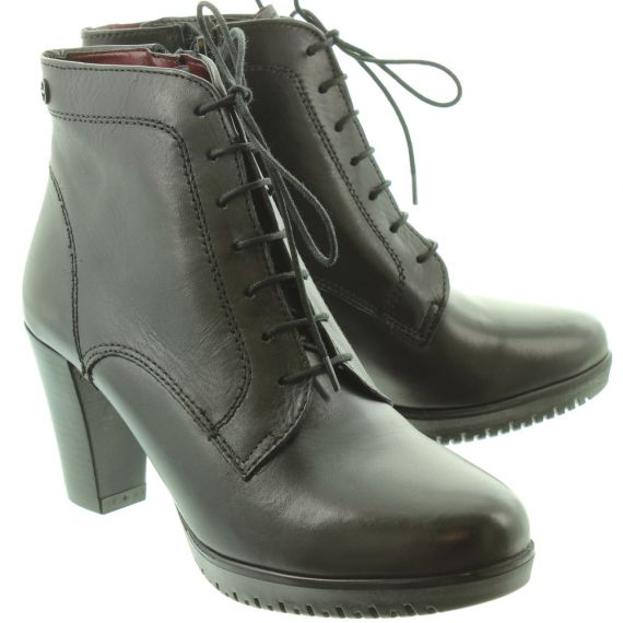 TAMARIS Ladies 25129 Heel Lace Boots In