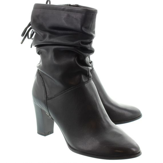 TAMARIS Ladies 25350 Heel Calf Boots In Black