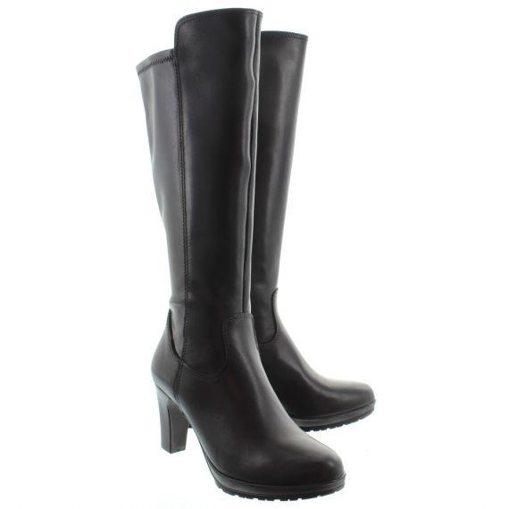 TAMARIS Ladies 25548 Heel Knee Boot In Black