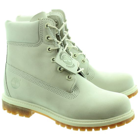 TIMBERLAND 6 Inch Authentic Ladies Ankle Boots In Light Grey