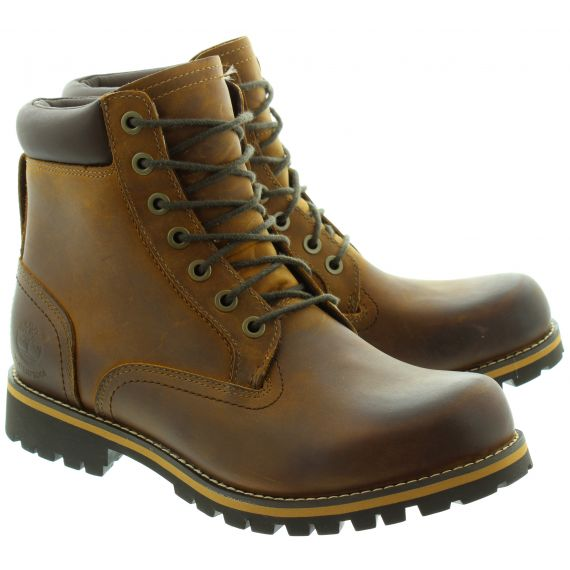 TIMBERLAND 74134 Waterproof Lace Boots in Brown