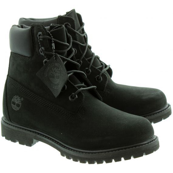 TIMBERLAND 8658A 6 Inch Ladies Lace Boots in Black