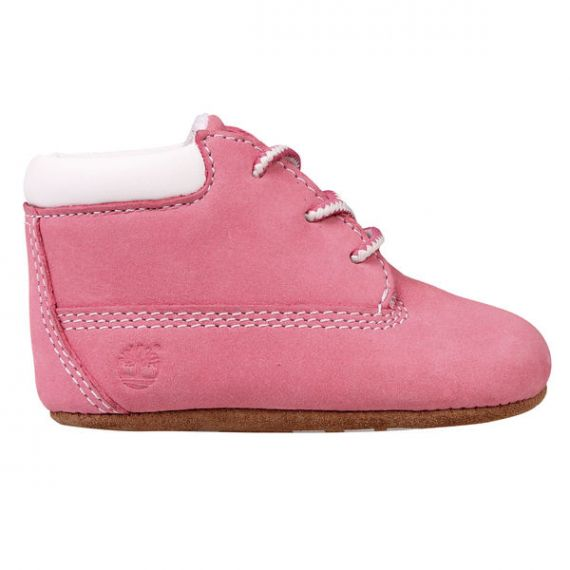 TIMBERLAND 9680R Baby Crib Boots & Cap in Pink
