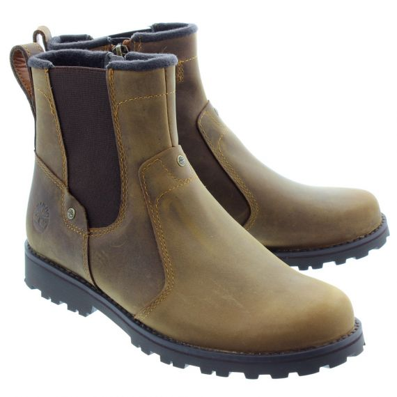 TIMBERLAND Kids Asphalt Trail Chelsea Boots In B Brown