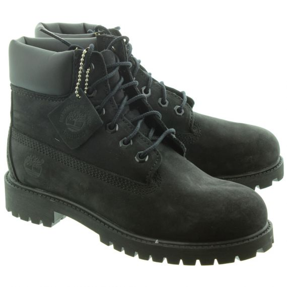 TIMBERLAND Kids Authentic 6 Inch Lace Boots in Black