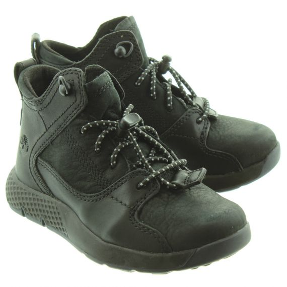 TIMBERLAND Kids Flyroam Lace Boots In Black