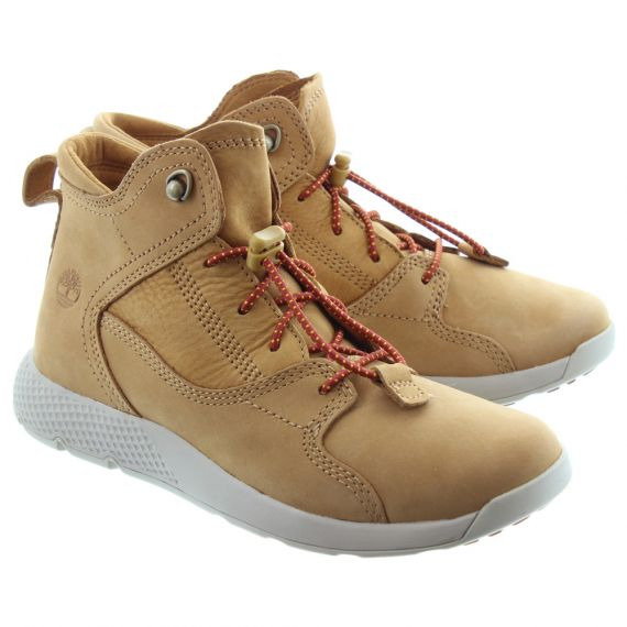 TIMBERLAND Kids Flyroam Lace Boots In Wheat