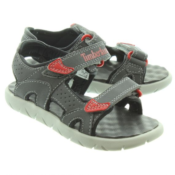TIMBERLAND Kids Perkins Sandals In Iron