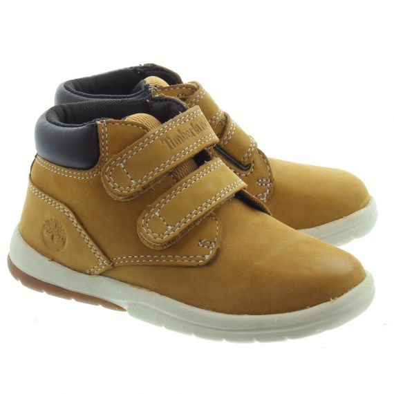 TIMBERLAND Kids Toddler Tracks Velcro Boot In Wheat