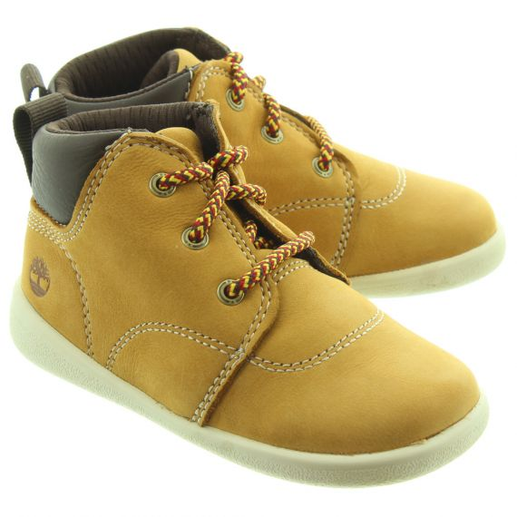 TIMBERLAND Kids Tree Sprout Lace Boots In Wheat