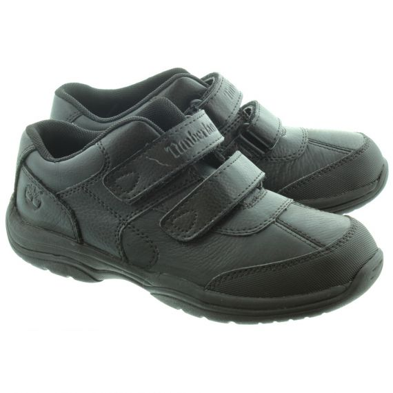 TIMBERLAND Kids Woodman Park Velcro Shoes in Black