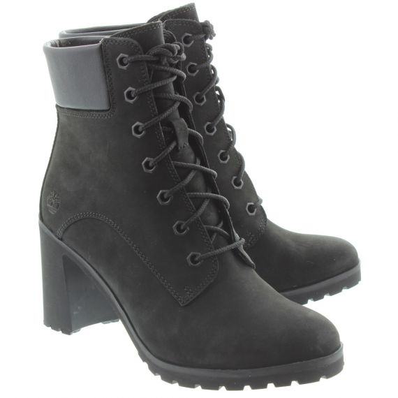 TIMBERLAND Ladies Allington Heeled Boots In Black
