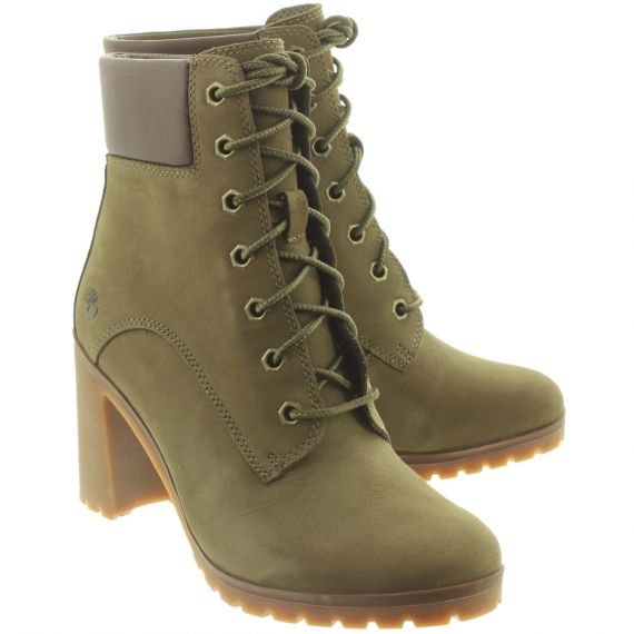 TIMBERLAND Ladies Allington Heeled Boots In Olive
