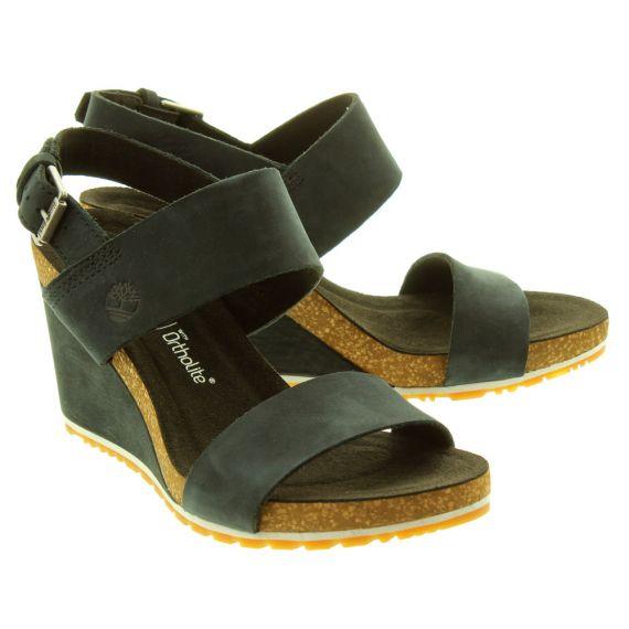 TIMBERLAND Ladies Capri Sunset Sandals In Black