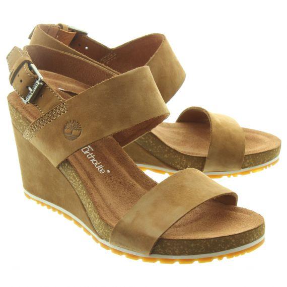TIMBERLAND Ladies Capri Sunset Sandals In Tan