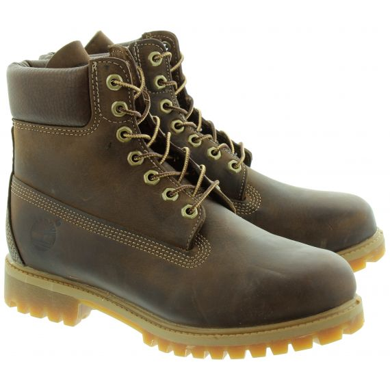 TIMBERLAND Leather 27097 6 Inch Classic Lace Ankle boots in Brown