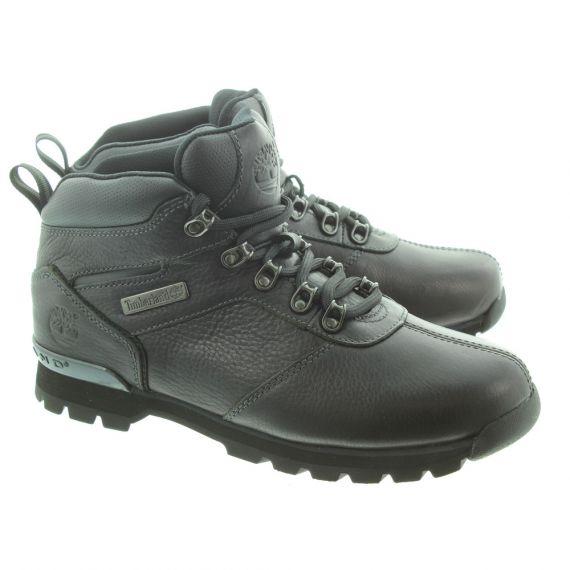 TIMBERLAND Mens Leather Splitrock2 Hiker Lace Ankle Boots in Black