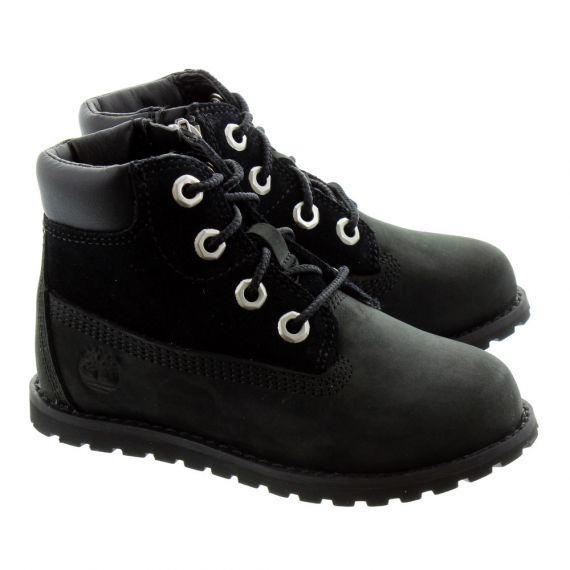 TIMBERLAND Toddlers Pokey Pine Boots In Black