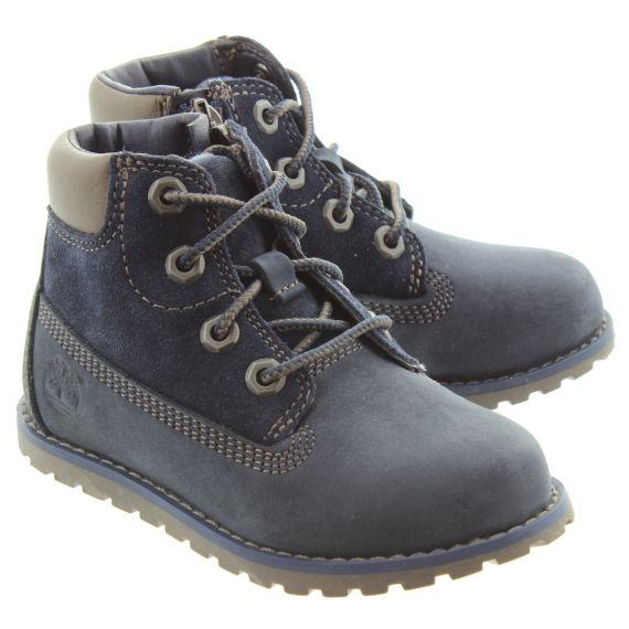 TIMBERLAND Toddlers Pokey Pine Boots In Navy