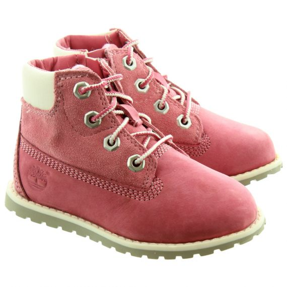 TIMBERLAND Toddlers Pokey Pine Boots in Pink