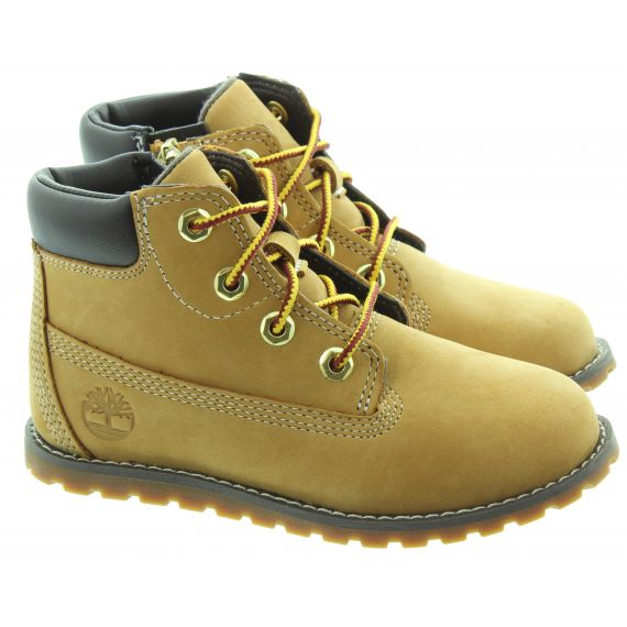 TIMBERLAND Toddlers Pokey Pine Boots in Wheat