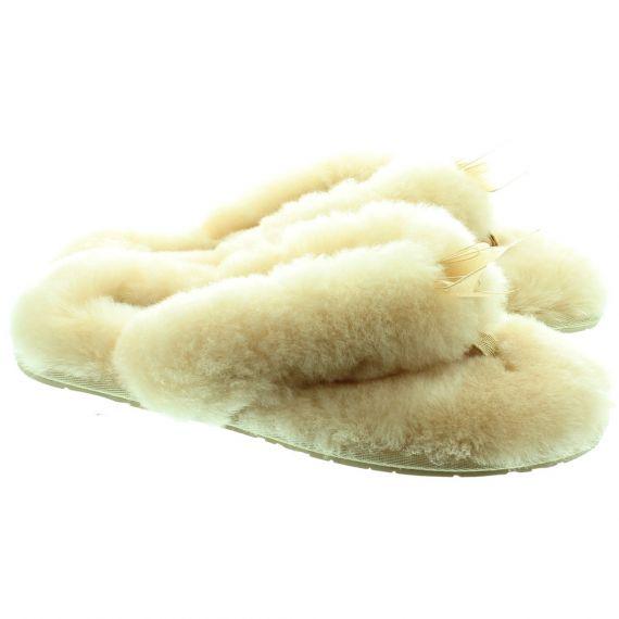 UGG Fluff Flip Flops in Natural