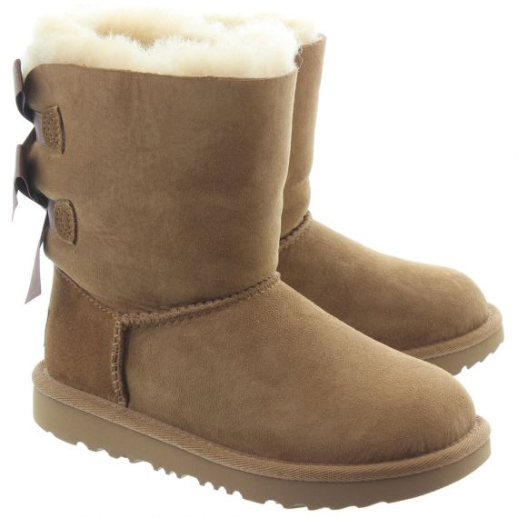 UGG Kids Bailey Bow 2 Boots In Chestnut