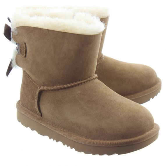 UGG Kids Bailey Bow Mini 2 Boots In Chestnut
