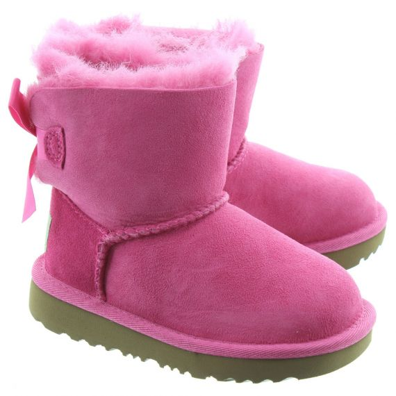 UGG Kids Bailey Bow Mini 2 Boots In Pink