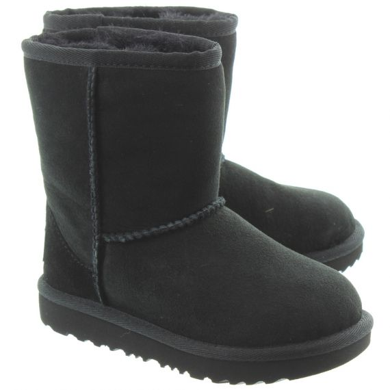 UGG Kids Classic Short 2 Boots In Black
