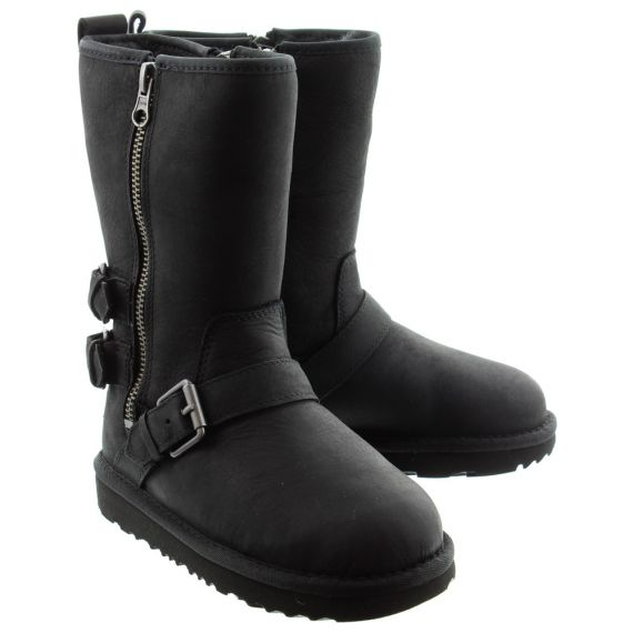 UGG Kids Kaila Calf Boots In Black