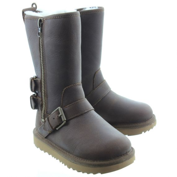UGG Kids Kaila Calf Boots In Toast