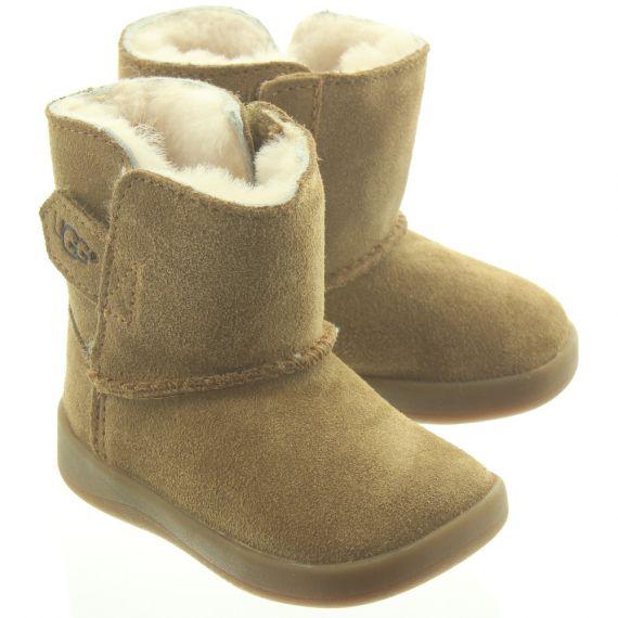 UGG Kids Keelan Boots In Chestnut.