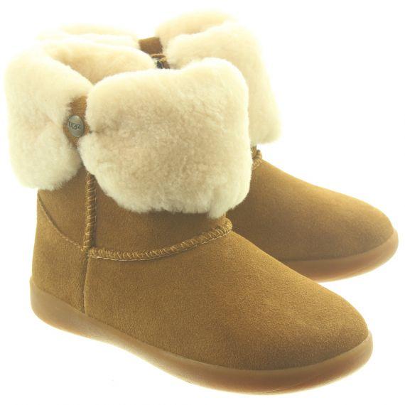 UGG Kids Ramona Toddler Boots In Chestnut
