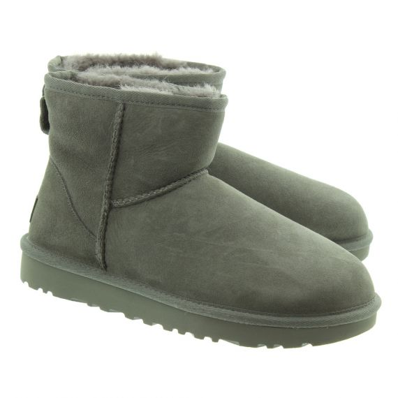 UGG Ladies Classic Mini II Boots In Grey