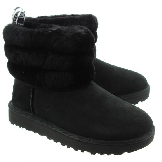 UGG Ladies Fluff Mini Quilted In Black
