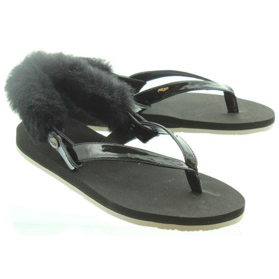 UGG Ladies LaaLaa Sandals In Black