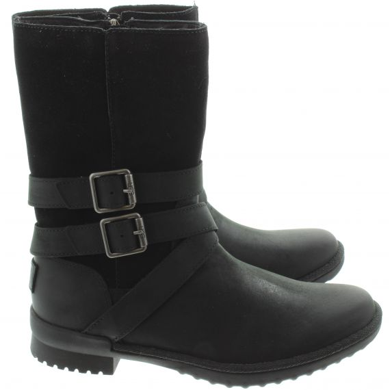UGG Ladies Lorna Calf Boots In Black