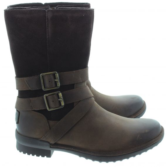 UGG Ladies Lorna Calf Boots In Brown