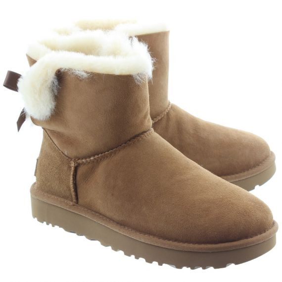 UGG Ladies Mini Bailey Bow 2 Boots In Chestnut