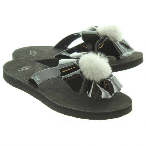 UGG Ladies Poppy Sandals In Black