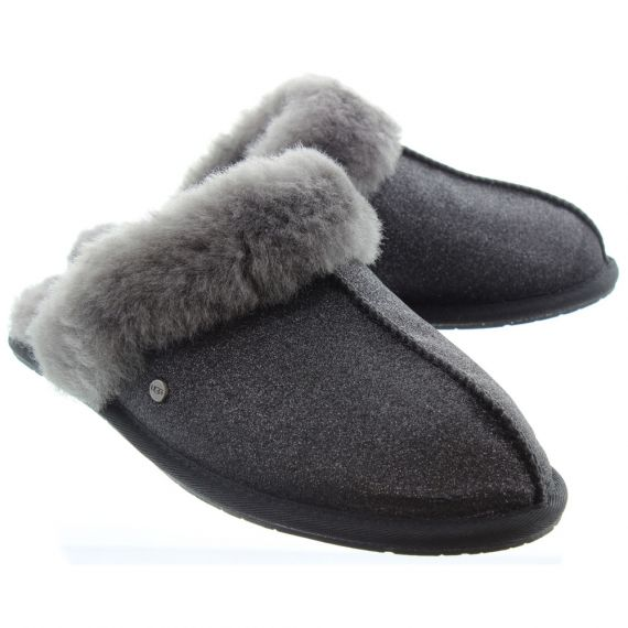UGG Ladies Scuffette 2 Sparkle Slippers In Black