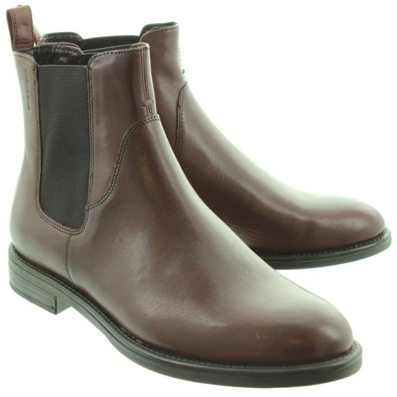 VAGABOND Ladies 4203 Amina Chelsea Boots In Burgundy