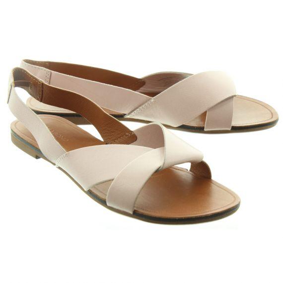 VAGABOND Ladies 43312 Flat Sandals In Nude