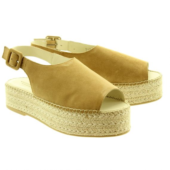 VAGABOND Ladies 45331 Flatform Sandals In Beige