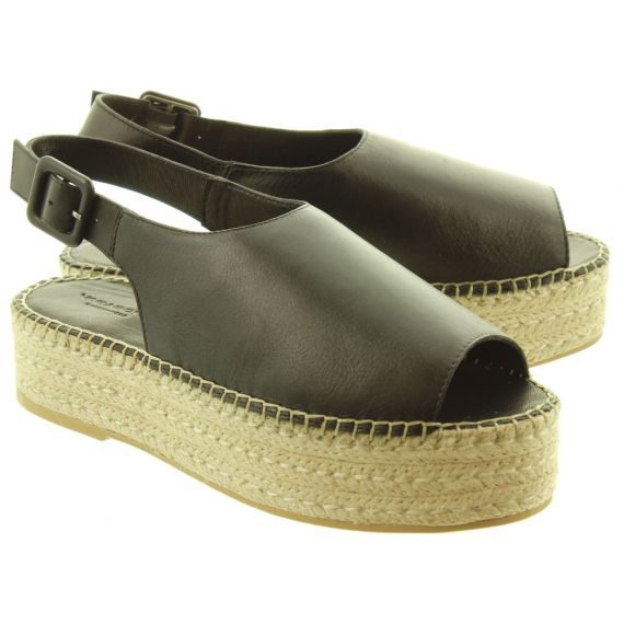 VAGABOND Ladies 45331 Flatform Sandals In Black